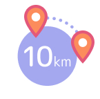 10km range